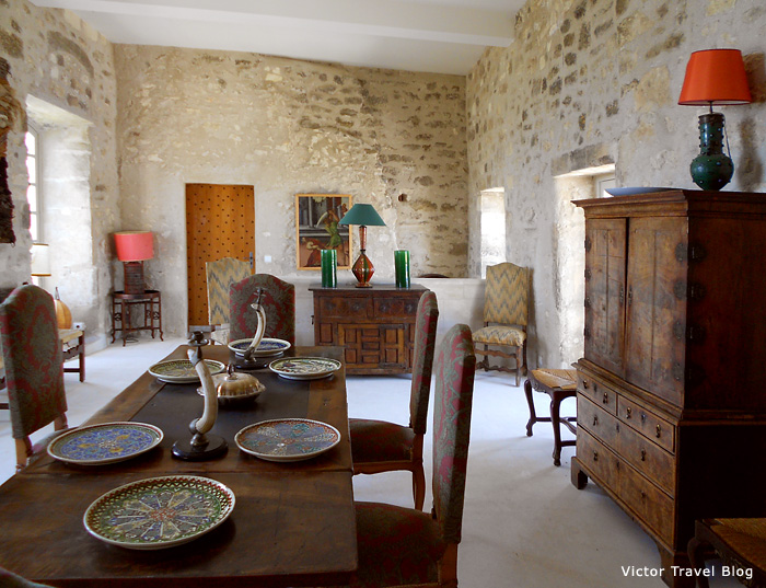 Interior of Marquis de Sade castle in Provence