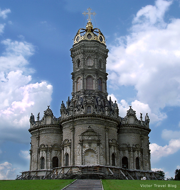 Baroque Church of the Sign of Our Lady, Dubrovitsy, Russia.