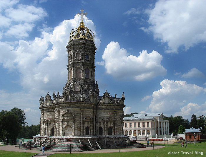 The church and estate in Dubrovitsy near Moscow, Russia.