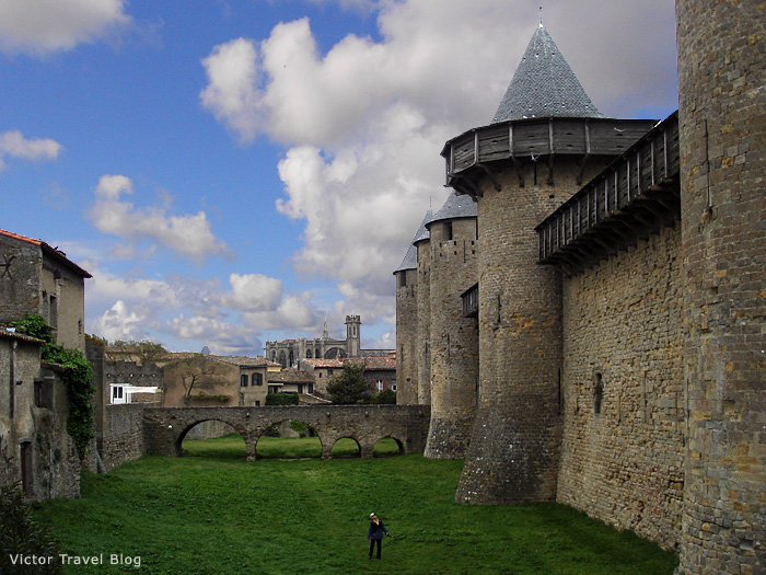 The Carcassonne castle. Languedoc, France.