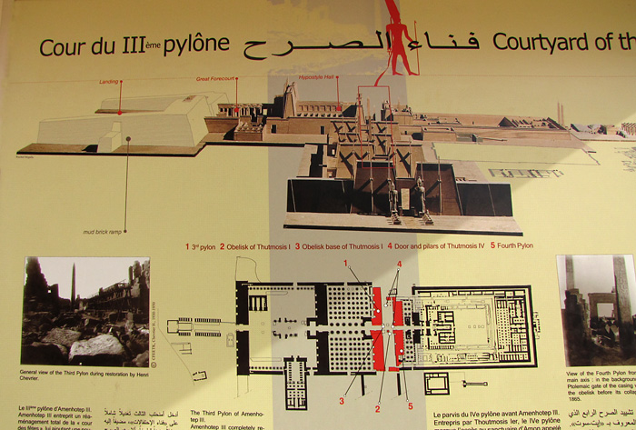Map of Luxor Temple