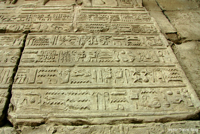 The ancient hieroglyphics, Luxor Temple