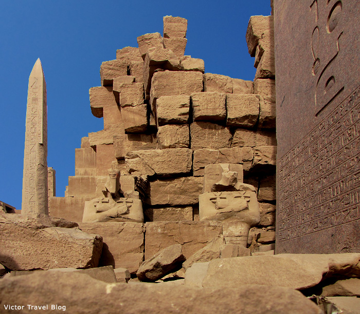 The ruins of Luxor Temple, Egypt