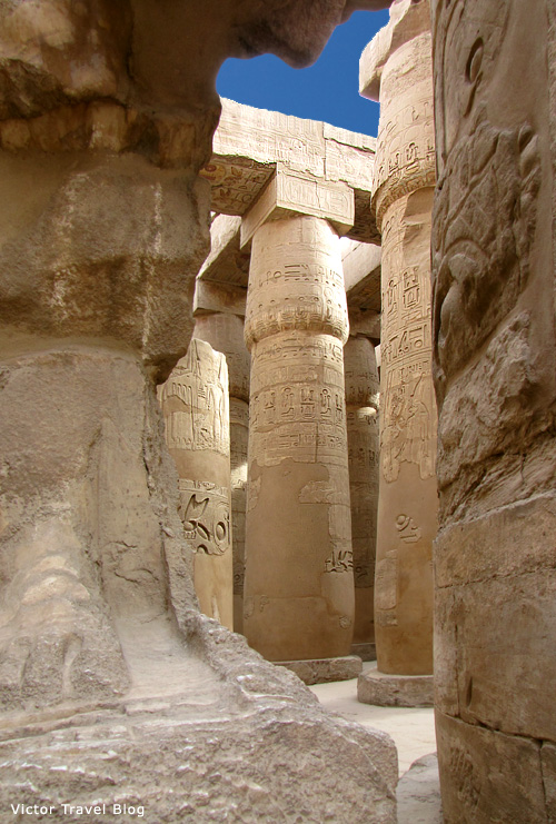 The columns of Luxor Temple, Egypt
