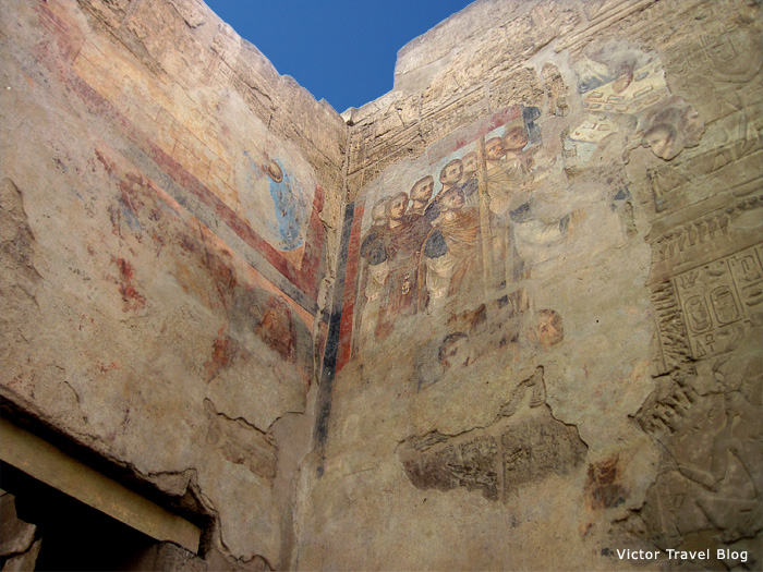 The Christian's fresco in Luxor Temple, Egypt