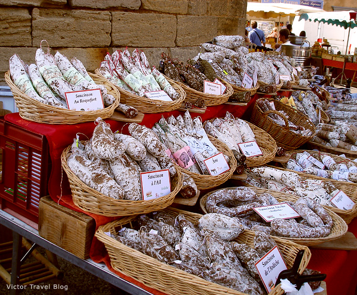 The market in Gordes. Provence, France.