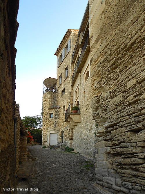 The empty street of Gordes. Provence, France.