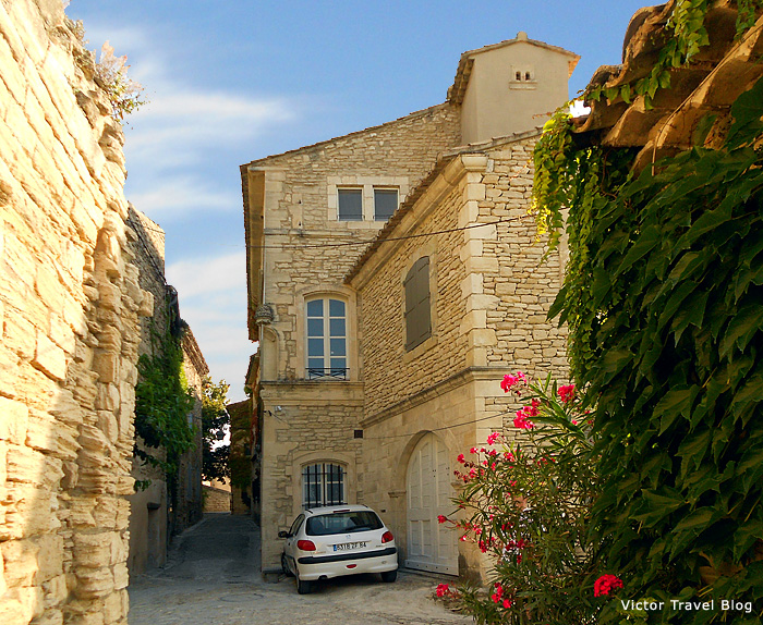 The empty street of Gordes. Provence, France.