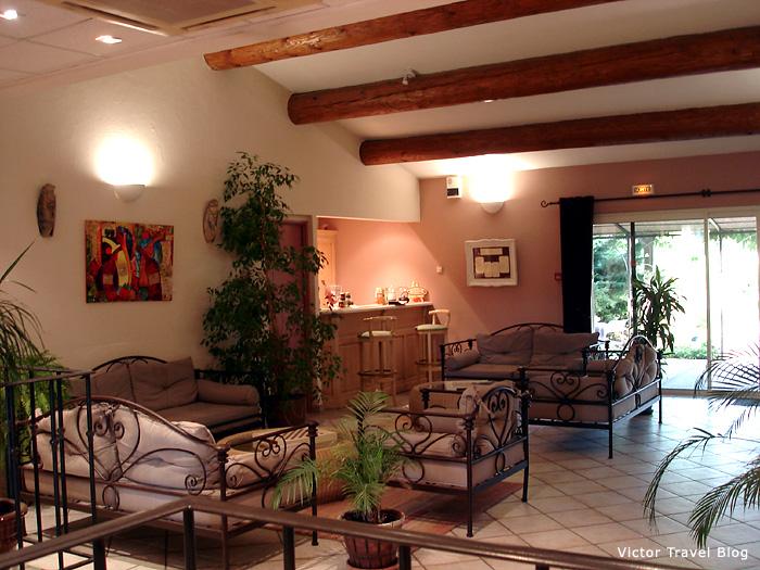 The hall of Hotel Mas de la Senancole. Gordes, Provence, France.