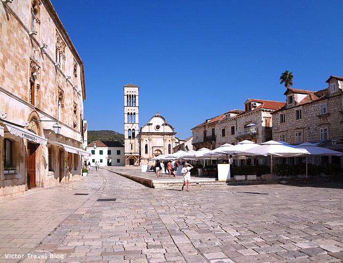 St. Stephen Squar. Hvar, Croatia.