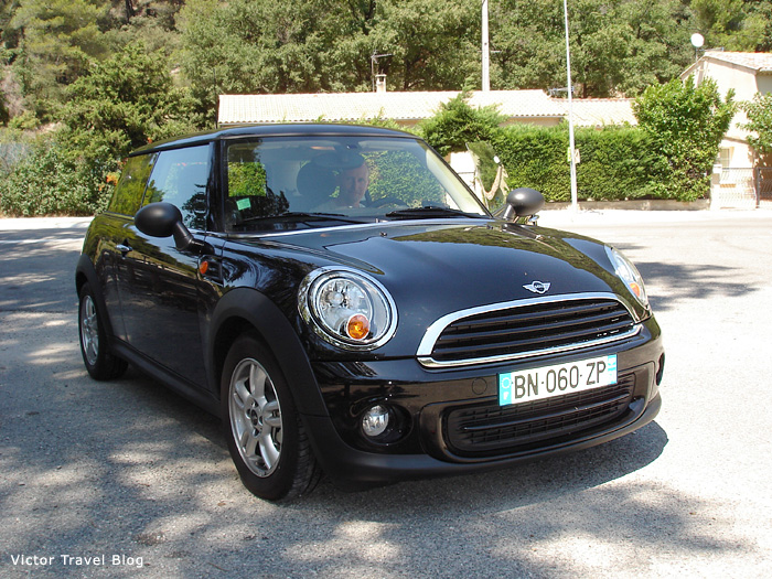 Our Mini Cooper in Provence.