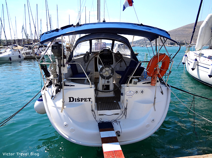 The yacht Dispet. Trogir, Croatia.