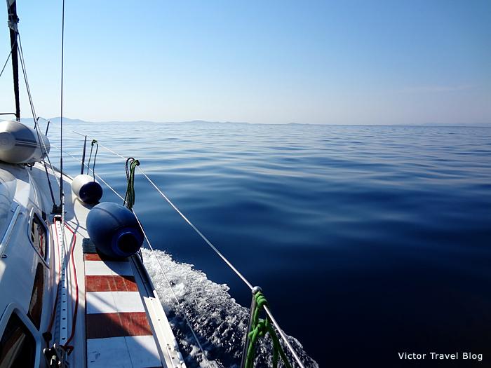 Sailing in Croatia.