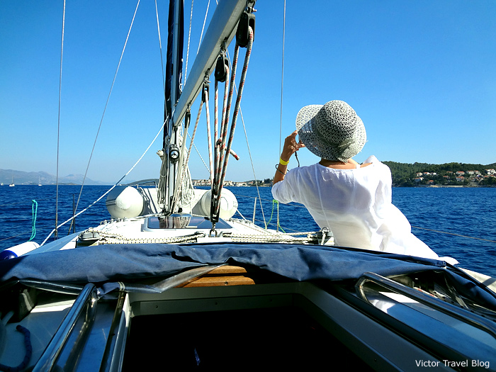 Sailing in Croatia.