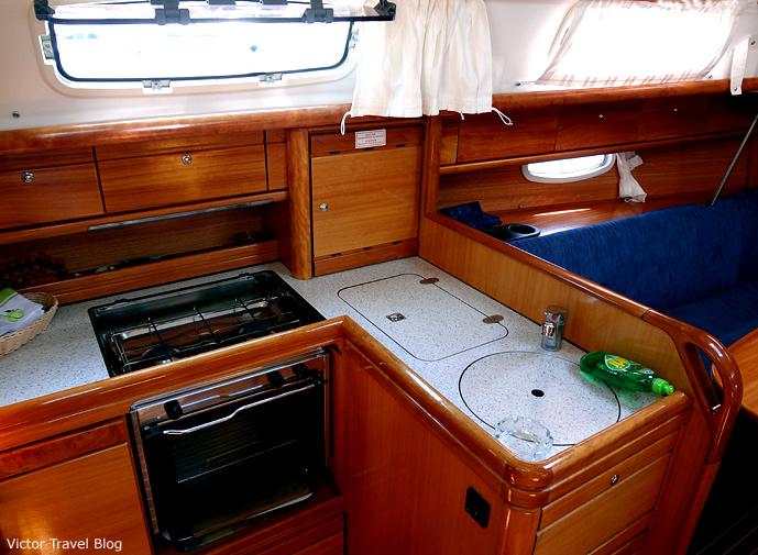 A yacht Bavaria 33. Croatia.