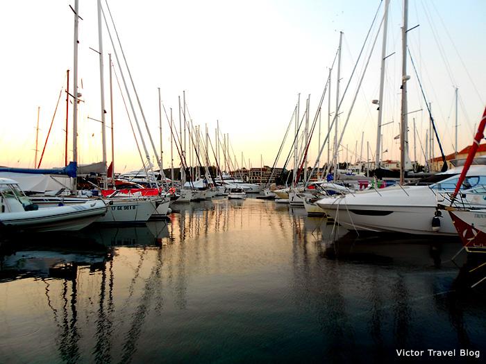 Sailing in Croatia. Marina.