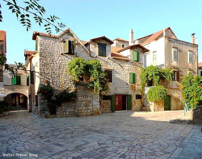 One of the streets of Stari Grad, Croatia.