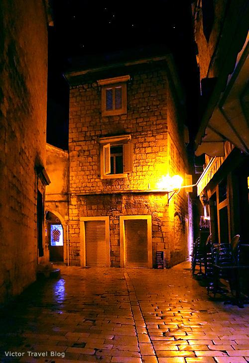 Night in Trogir. Croatia.
