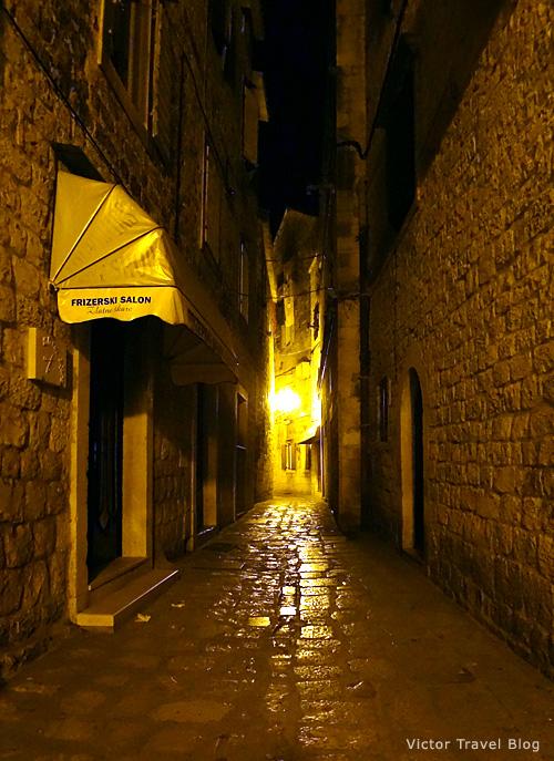Night in Trogir, Croatia.
