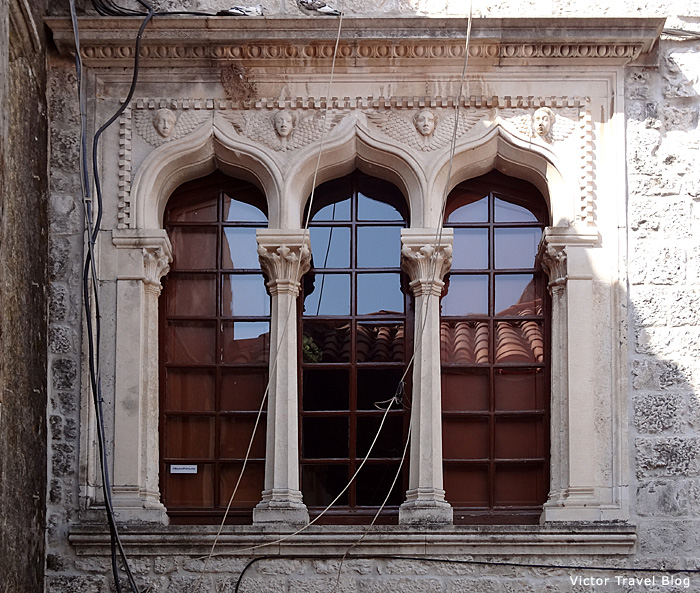 Venetian window in Trogir, Croatia.