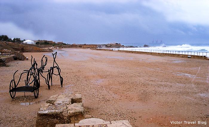Hippodrome in Caesarea, Israel.