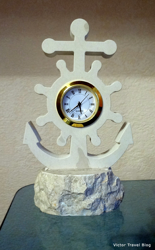 Our clock in white Brac stone