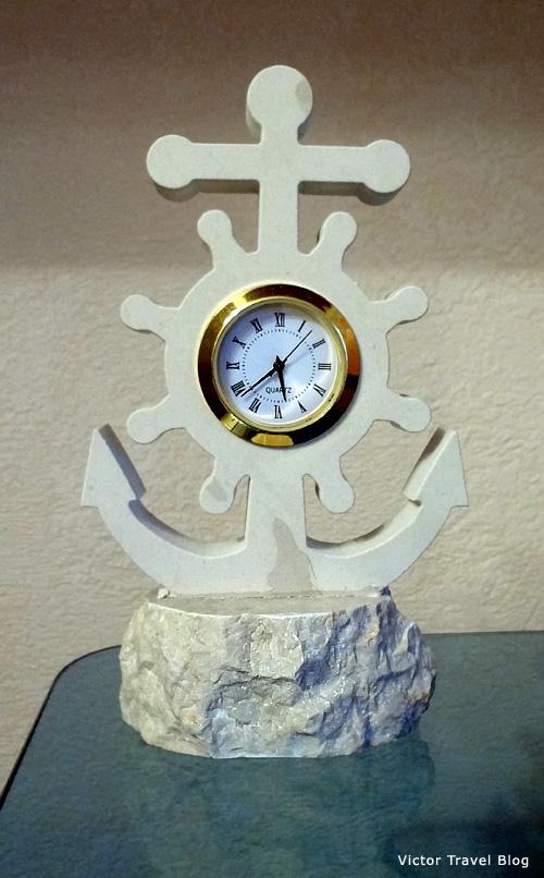 Our clock in white Brac stone