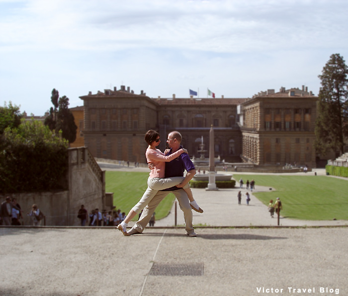 Our dance near Palazzo Pitti, Florence, Italy.