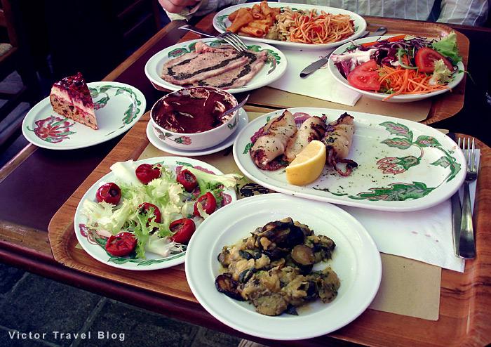 Italian cuisine. A lunch.