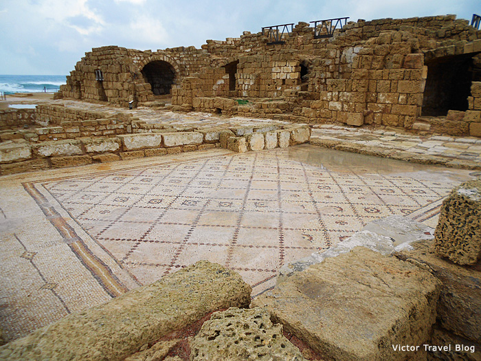 Mosaic floors of Caesarea, Israel.