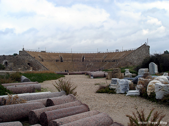 The theatre in Caesarea, Israel.