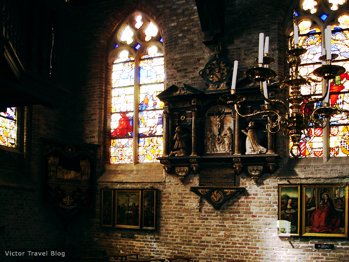 Inside of the Jerusalem Church of Bruges, Belgium.