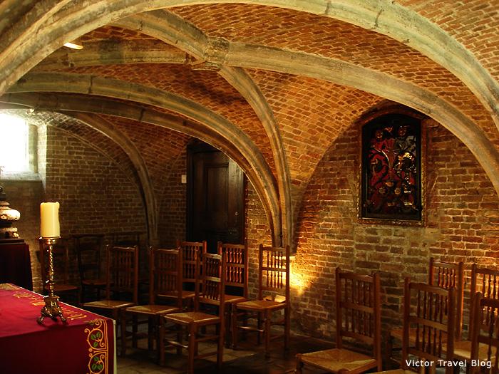 Inside of the Jerusalem Church of Bruges, Belgium.