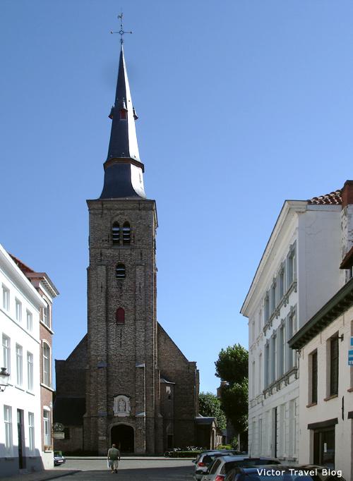 Saint Anna's Church in Bruges, Belgium.