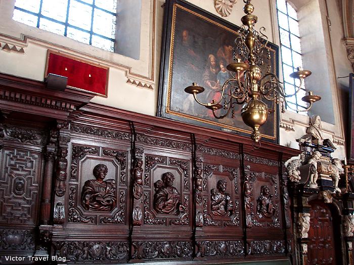 The interior of Saint Anna's Church. Bruges, Belgium.