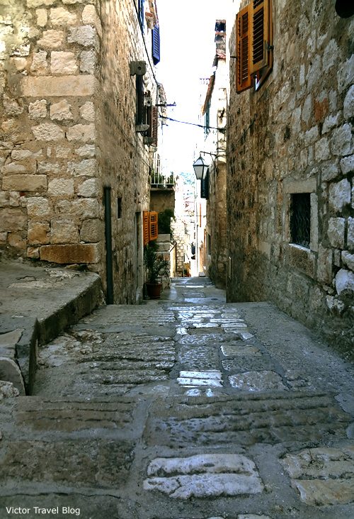 Medieval streets in Hvar