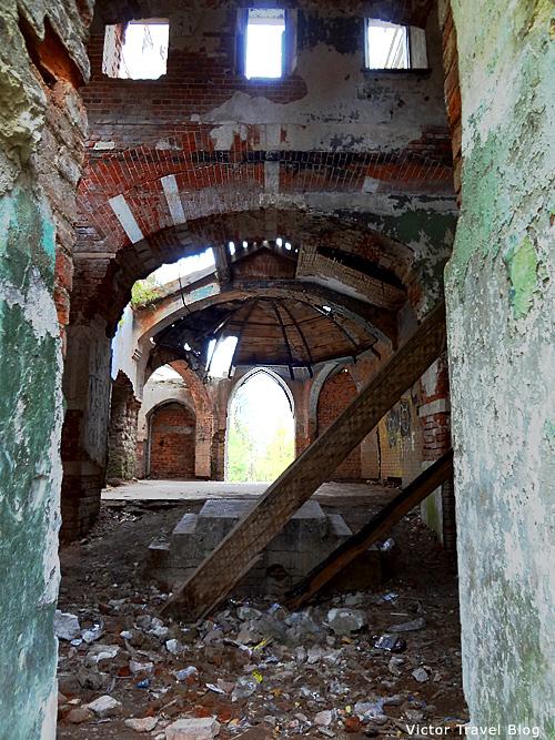 Inside of the Russian castle Muromtsevo.