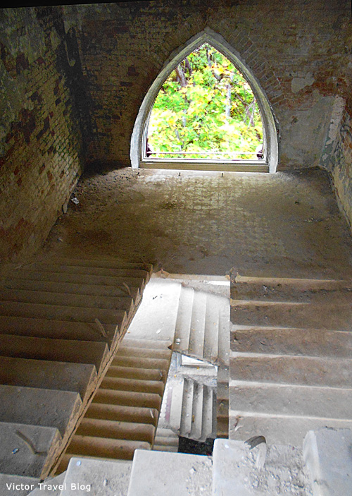 Inside of the Russian castle Muromtsevo.