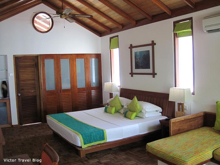 Deluxe Villa. Reethi Beach Resort. The Maldives.