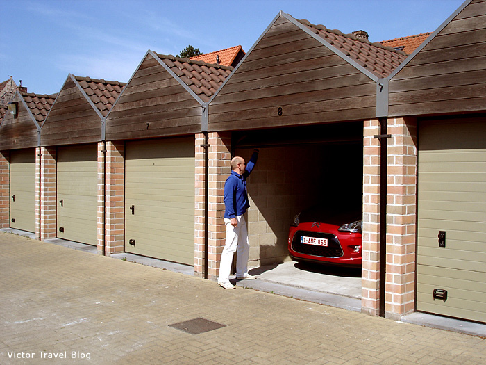 Our garage in Bruges. Belgium.