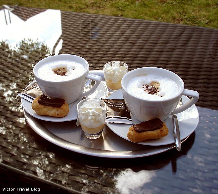 Breakfast in Bruges. Belgium.