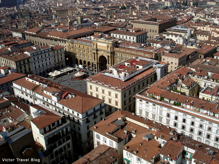 Air view of Florence, Italy.