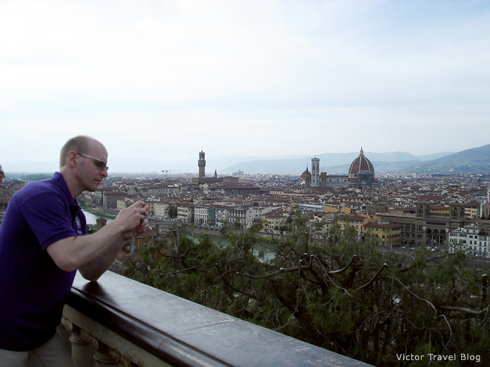 View of Florence. Summer 2012 in Italy.