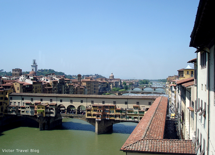 The golden bridge of Florence. Italy.