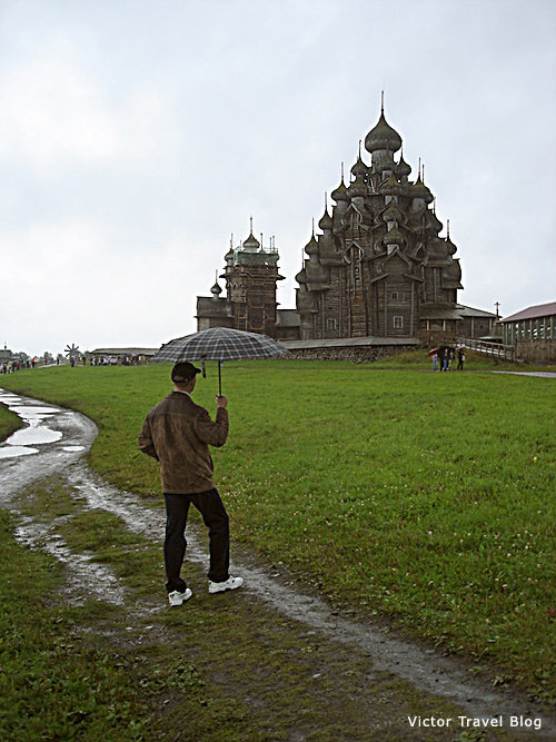 The Church of the Transfiguration of Our Lord and the Church of the Intercession. Kizhi Island, Russia.