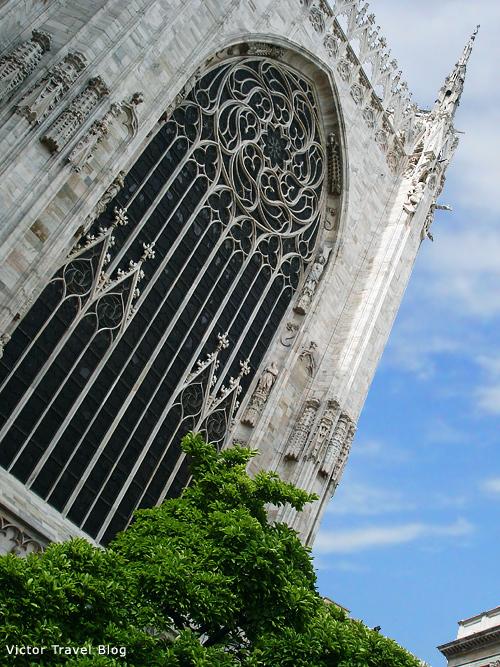 A window of Duomo. Milan. Italy.