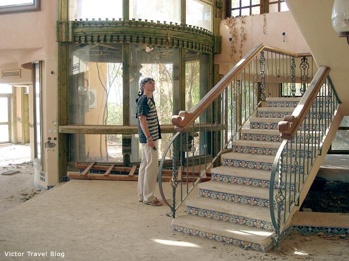 The interiors of the abandoned villa of Sheraton Sharm El Sheikh, Egypt.