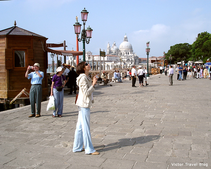 Hot summer in Venice, Italy.