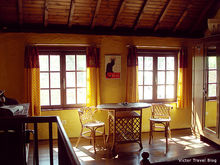 The second floor of Joe's Cottage in Bruges. Belgium.