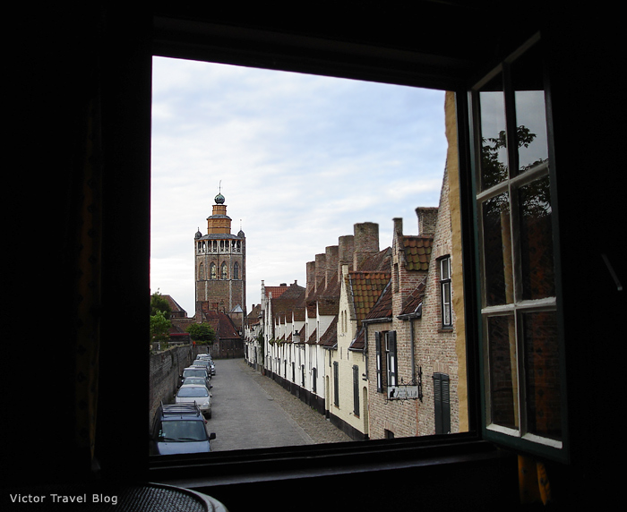 View from the windows of Joe's Cottage in Bruges. Belgium.